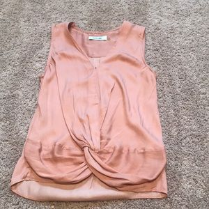 DO+BE beautiful pink tie blouse size S